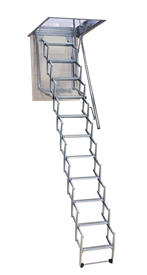 escalera escamoteable metálica,escalera plegable metálica,escalera retráctil,escalera escamoteable techo