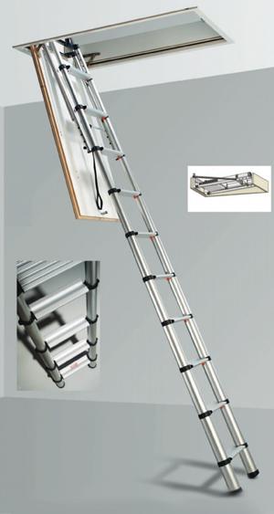 escalera de aluminio,escalera escamoteable,escalera plegable,escalera para espacio reducidos