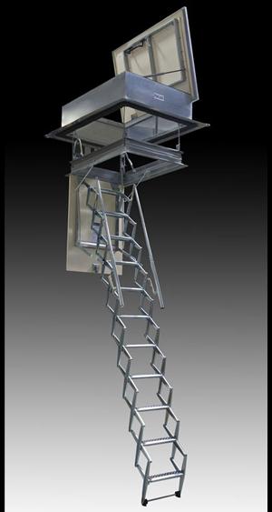 Escalera plegable para terraza,escalera para azotea, escalera escamoteable para azotea