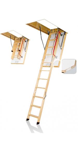 Escalera escamoteable de madera, escalera plegable de madera, escalera para altillo, escalera para buhardilla