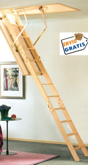 escalera escamoteable,escalera plegable,escamoteable 3 tramos, escalera de madera, escalera para techo, escalera para buhardilla